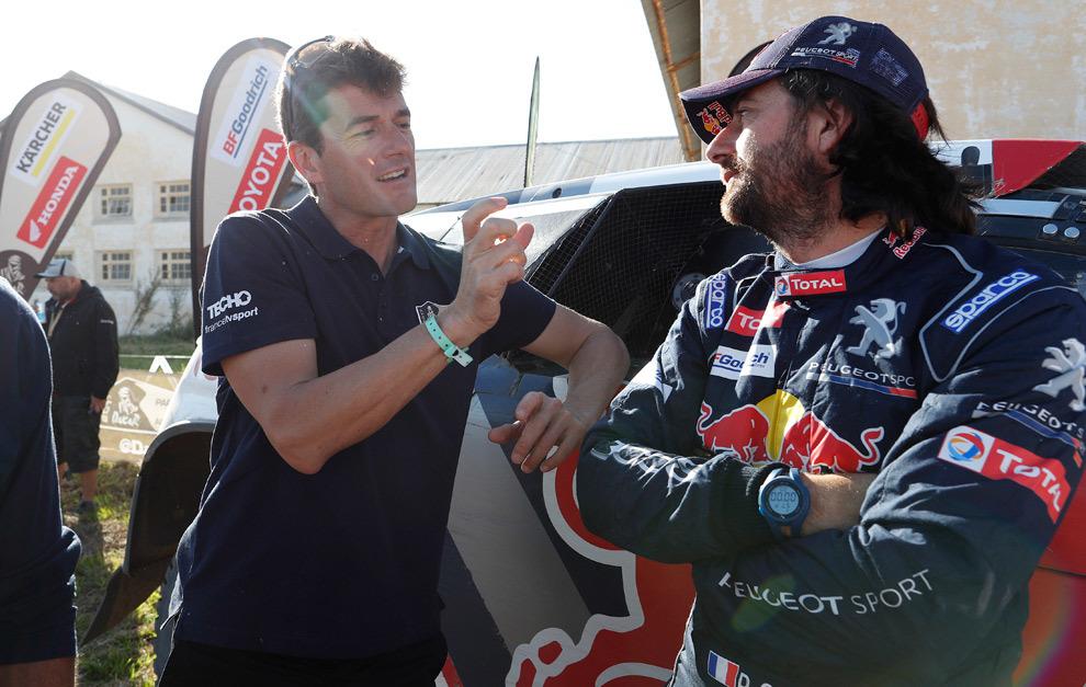 Coma y David Castera, los dos últimos directores deportivos del Dakar