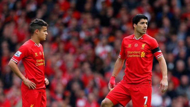 Image result for suarez and coutinho