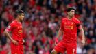 Suárez y Coutinho, durante un partido con el Liverpool