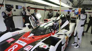 Alonso, con el equipo Toyota Gazoo Racing.