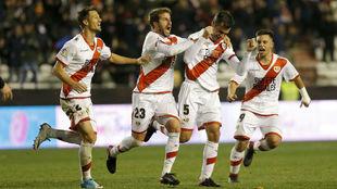 Dorado celebrando su gol ante el Granada