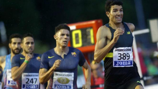 Adel Mechaal durante el Campeonato de España del año pasado en...