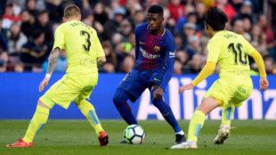 Dembélé, en el Barça-Getafe.