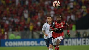 Vinicius, durante un partido