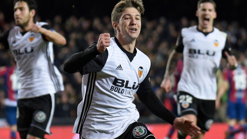 Vietto celebra su gol ante el Levante