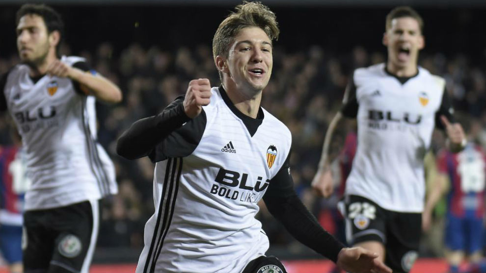 Vietto celebra su gol contra el Levante.