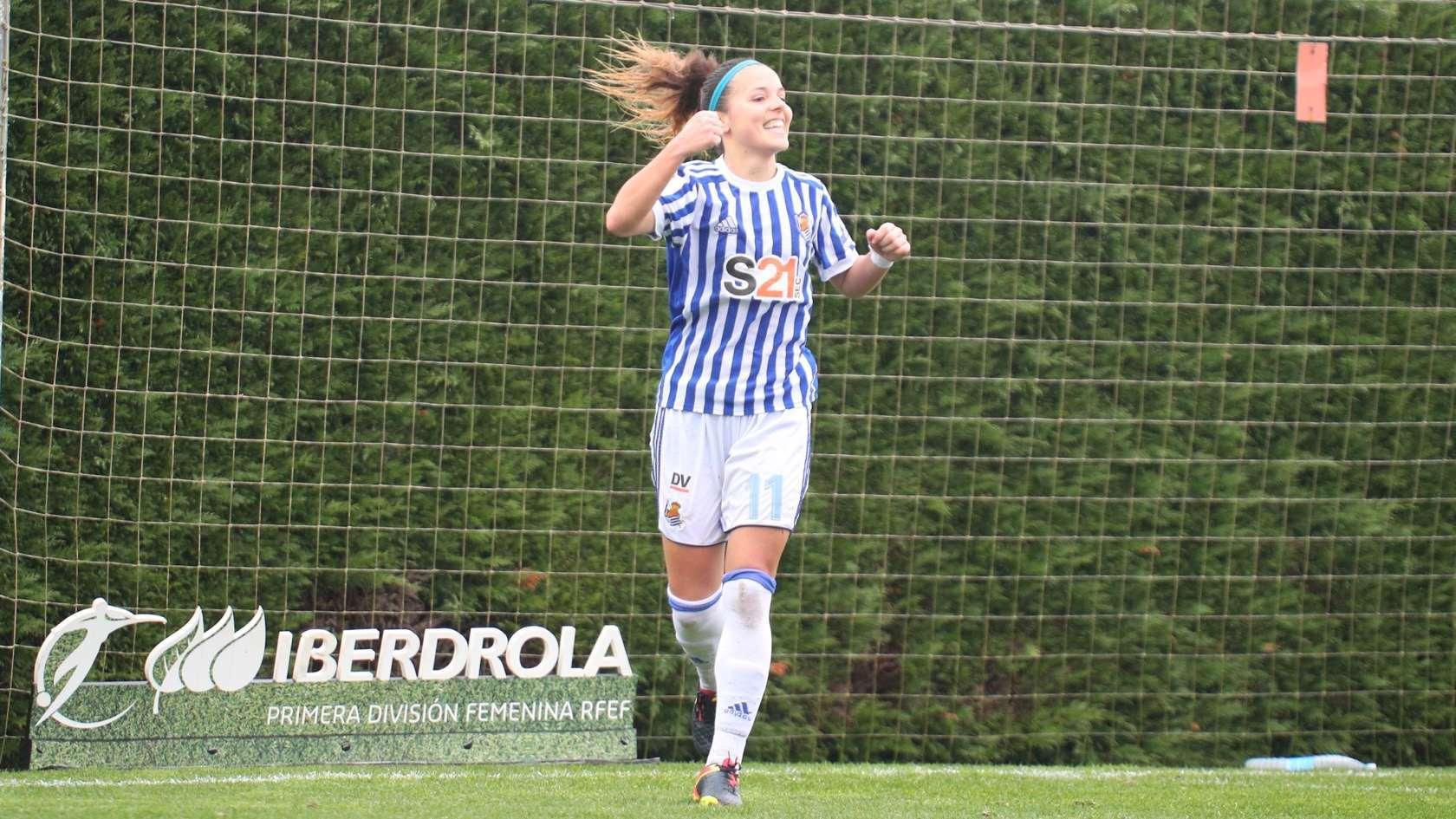 Claudia Zornoza durante su partido ante el Madrid CFF del pasado...