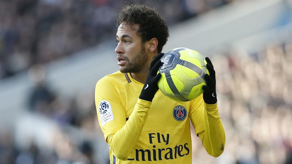 Neymar, durante su último partido ante el Toulouse previo al Real...
