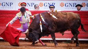 Andy Cartagena indultó por primera vez a un toro de rejones,...
