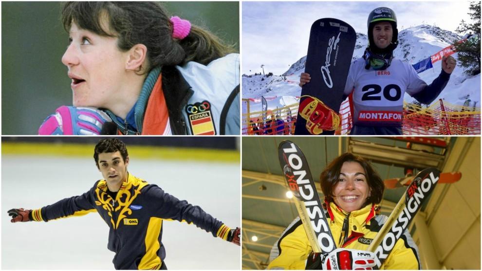 Blanca Fernández Ochoa, Lucas Eguibar, Javier Fernández y María...