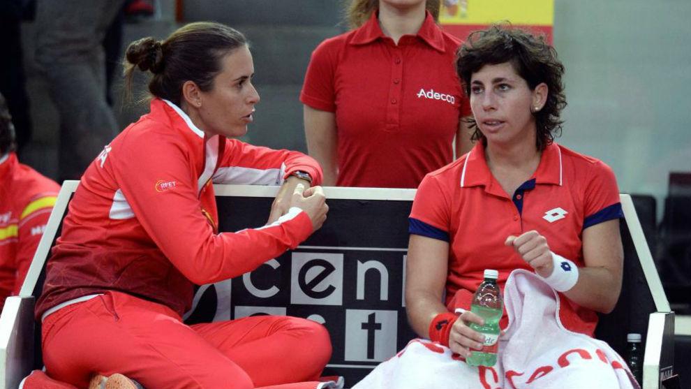 Medina, con Carla Suárez
