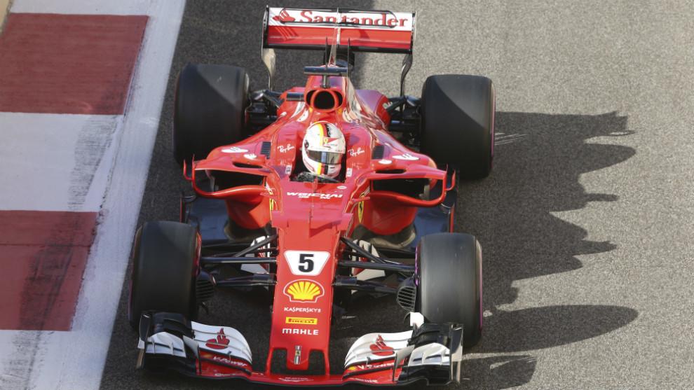 Sebastian Vettel, con el SF70-H