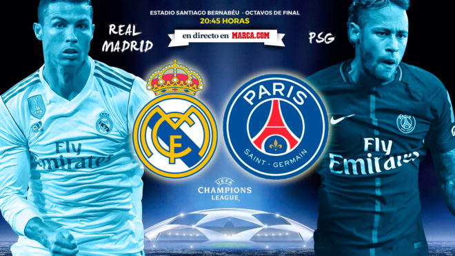 Champions real madrid vs psg horario y d nde ver en for Futbol madrid hoy hora