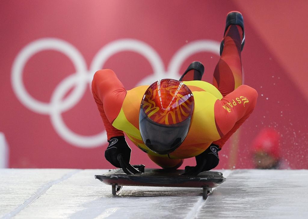 Ander Mirambell, durante un entrenamiento en Pyeonghang