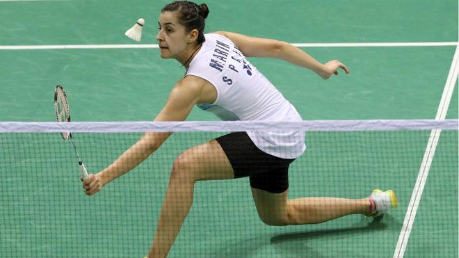 Carolin Marín, en un reciente torneo disputado en India