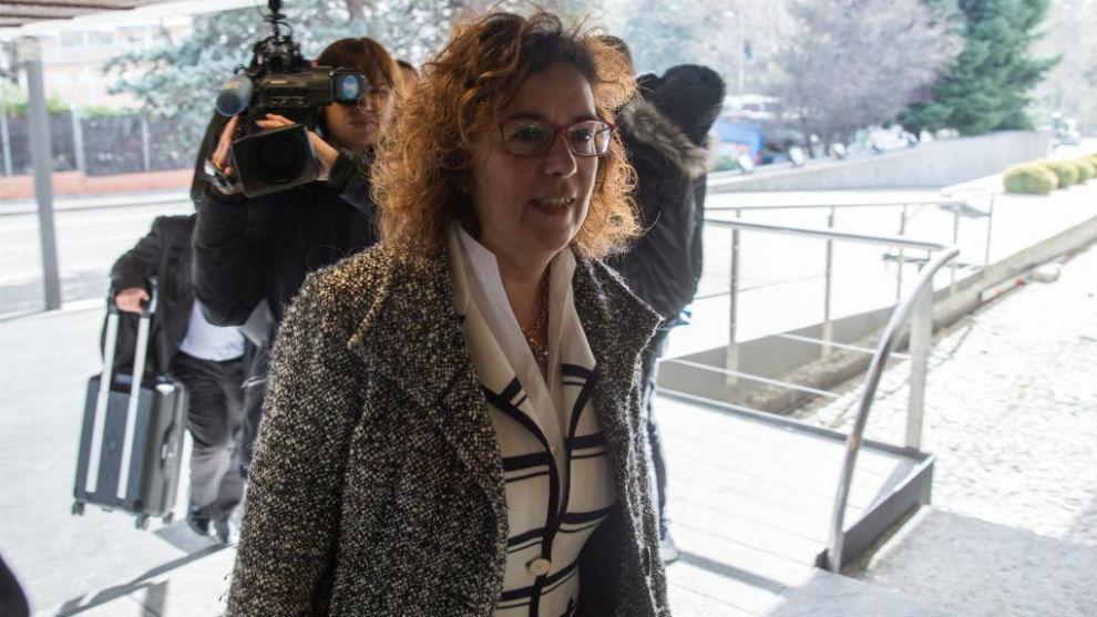 Esther Queraltó, secretaria general de la ACB, a su llegada a la...