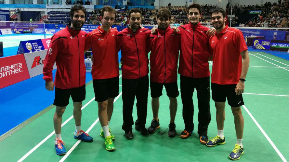 Los integrantes del equipo masculino español.