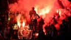 Los ultras del PSG, durante el partido PSG-Niza en el Parque de los...