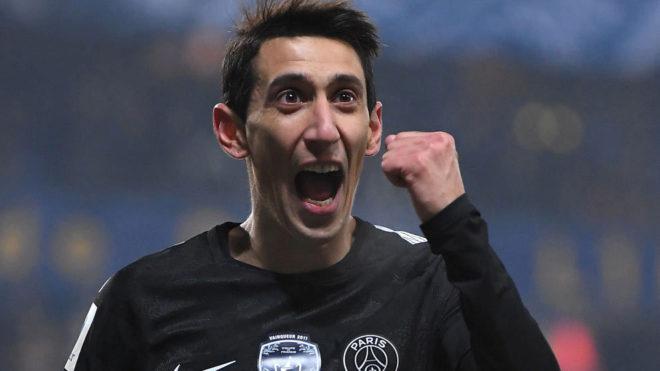 Di María celebra un gol.