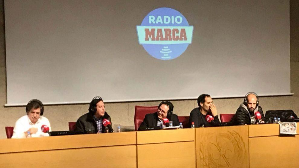 Iñaki Cano, Pipi Estrada, Vicente Ortega, David Sánchez y Gonzao...