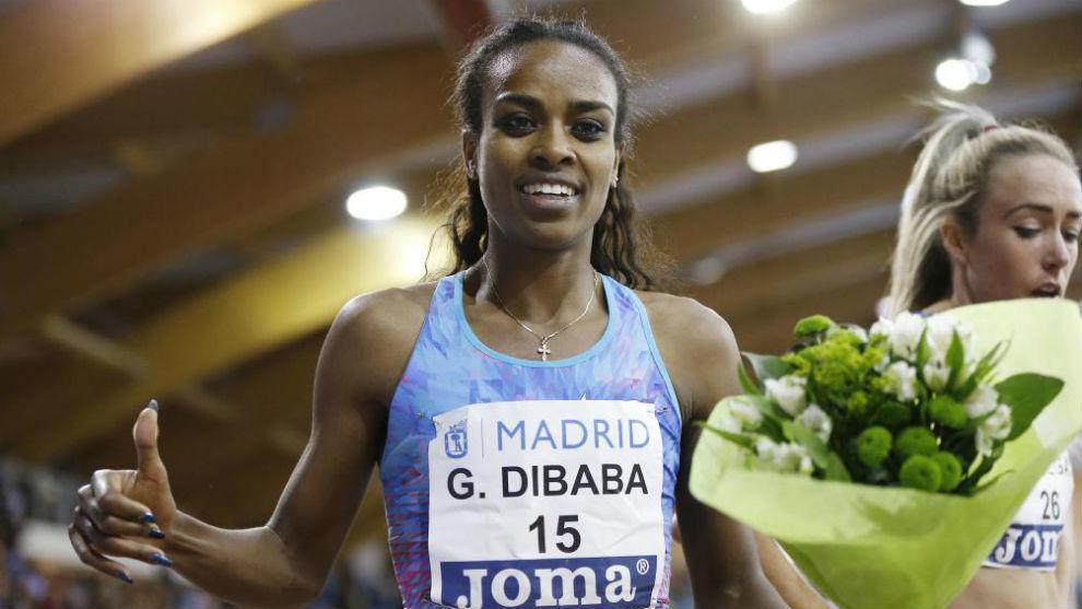 Genzebe Dibaba, durante el pasado Mítin de Madrid.