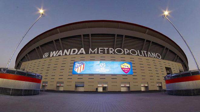 Imagen del Wanda Metropolitano del Atlético-Roma de Liga de...