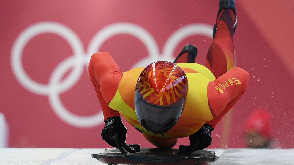 Ander Mirambell, en la pista olímpica.