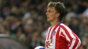 Gronkjaer, en su etapa en el Atlético.