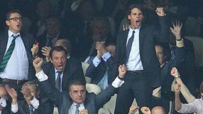Rafa Nadal, protagonista del mosaico de esta noche en el Santiago Bernabéu