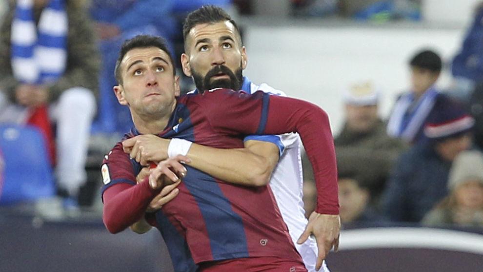 Dani García durante el partido entre Leganés y Eibar