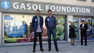 Pau y Marc Gasol, fundadores de la Gasol Foundation.