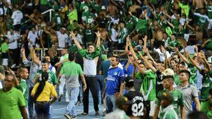 Imagen de los aficionados del Deportivo Cali.