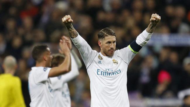 Ramos celebra el resultado final.