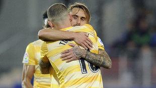 Aleix García celebra un gol con Timor