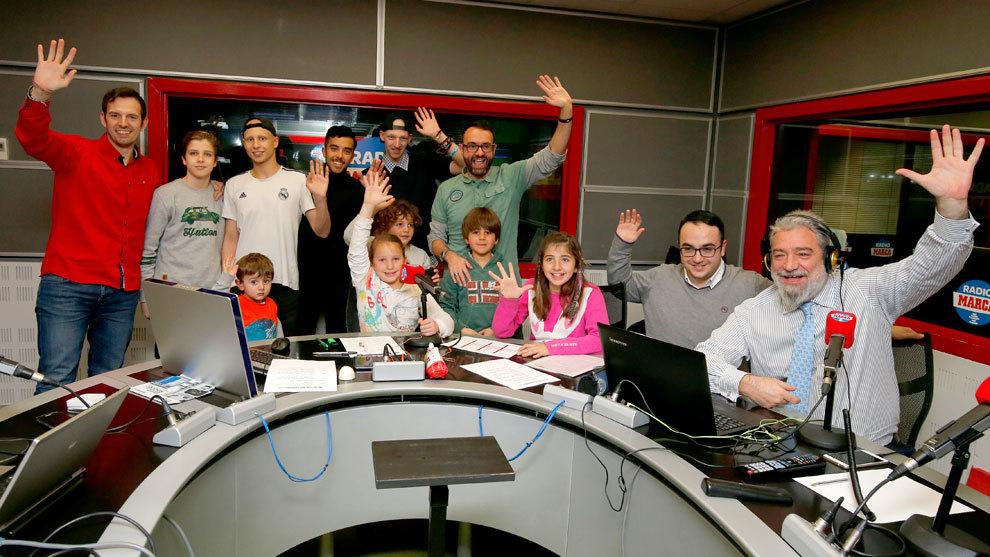 Foto de familia del Marcador de este miércoles en Radio MARCA