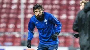 Federico Santander, en víspera de medirse al Atlético.
