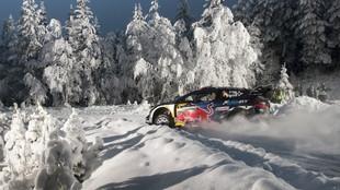 Ogier, durante el Rally de Suecia 2017