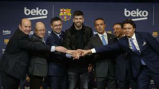 Presentación del acuerdo de patrocinio entre el Barça y Beko