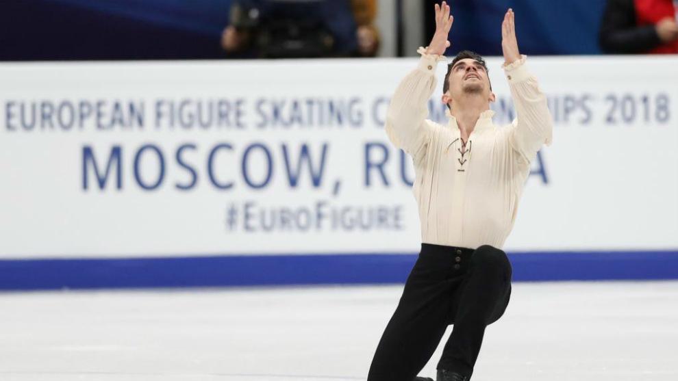 Javier Fernández, en el pasado Campeonato de Europa de Moscú