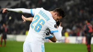 Thauvin celebra su gol ante el Braga