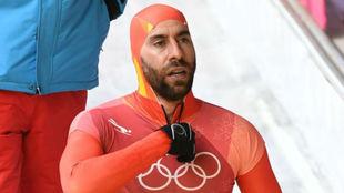 Ander Mirambell, tras una bajada en el circuito olímpico.