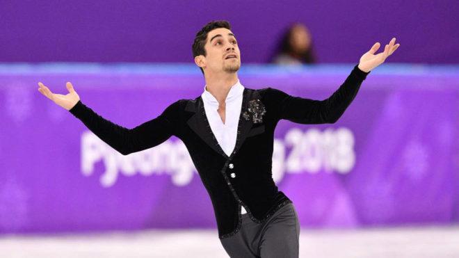 Javier Fernández durante el programa corto en Pyeongchang