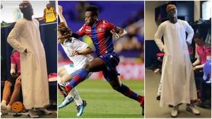 Fotomontaje del jugador del Levante, Boateng.