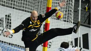 José Manuel Sierra, en un partido con la selección española