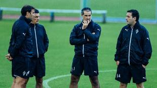 Cuatro integrantes del cuerpo técnico del Eibar.