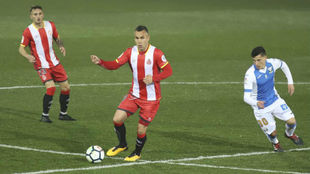 Amagat en su debut en Primera División ante el Leganés.