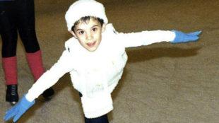 Javier Fernández en sus inicios en el patinaje artístico