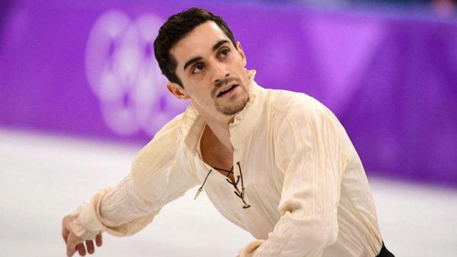 Javier Fernández, durante el programa libre de los Juegos