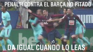 A penalty can't be given against Barcelona, no matter what you see.