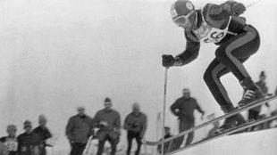 Grenoble descenso JJOO 1968. Antonio Campañá en acción